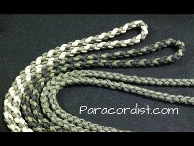Paracordist how to tie a four strand round braid with paracord for a self defense keychain