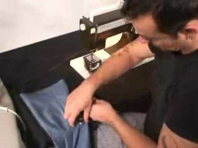 Sewing a Rolled Hem with Fusible Thread