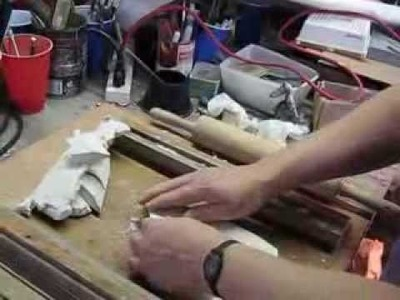 Step 4: making a faceted glass panel: Applying Sculpey