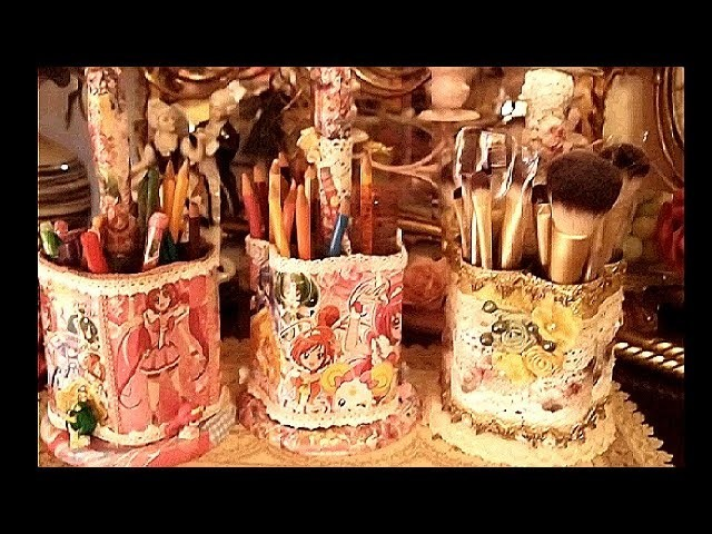 Toilet Paper Roll into Pencil Organizer.Holder. part 1