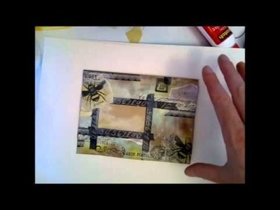 Tutorial - Let's use some scraps and create some Mail Art