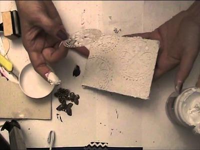 Tutorial mixed media mini canvas in White part 1