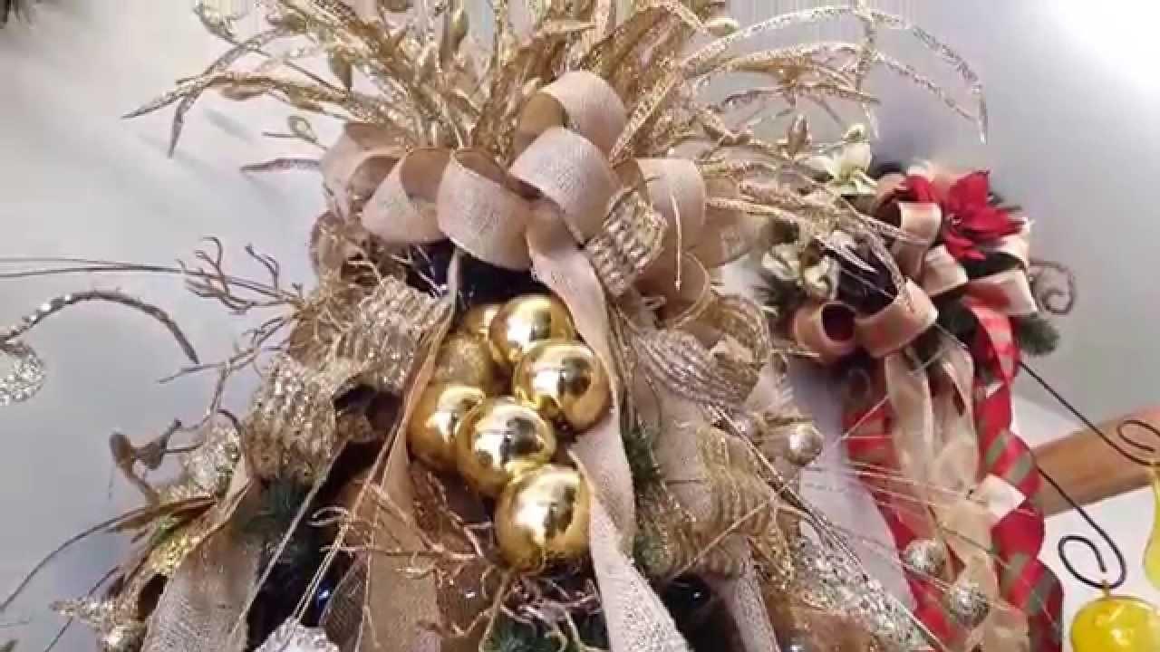 Varias ideas para decorar arbol de navidad en dorado 2015 2016