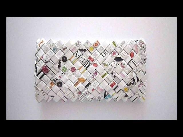 Woven Paper wallet - Portefeuille en papier