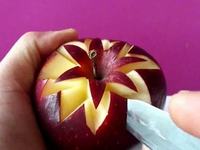 Art In Apples Show - Fruit Carving Apple Secret Lucky Star ★ Garnish ★