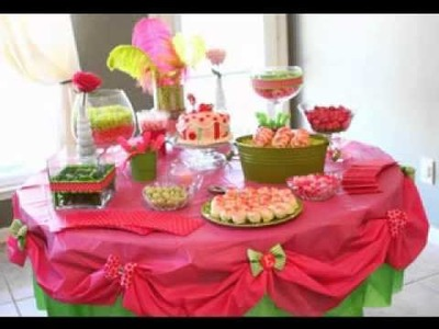Birthday party table decoration ideas