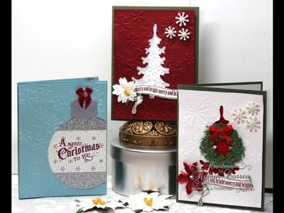 Christmas Card Tutorials 2013 - #3 Die Cut Negatives as Layers