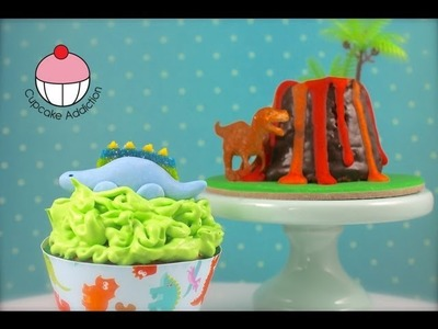 Dinosaur Cupcakes! Make Stegosaurus Cup Cakes - A Cupcake Addiction How To Tutorial