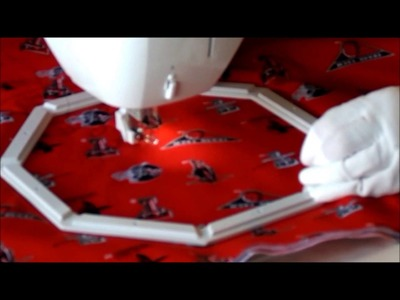 Episode 8: Free Motion Quilting A Fabric Sandwich Using Octi Hoops