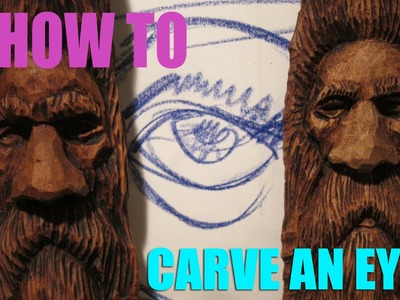 Eye Tutorial, How to carve eyes on a wood spirit