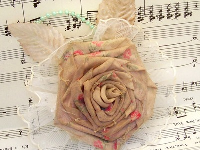 Flower Friday- Ribbon Rose from Fabric Flower Tutorial