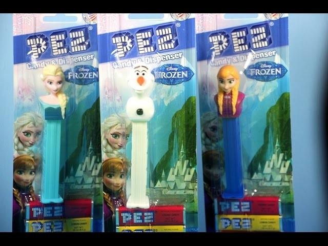 Frozen Pez Candy & Dispenser Review: Disney Elsa, Anna& Olaf