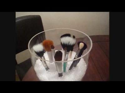 Fun way to organize.store.display your makeup brushes