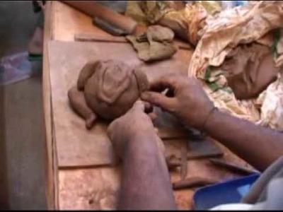 Ganapati Idol making by hand