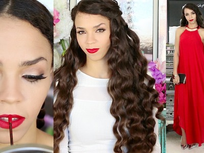 Get Ready With Me! Holiday Makeup, Hair, Outfits Galore