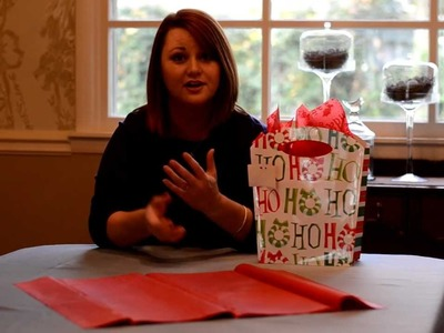 Gift Wrapping Ideas: How to use a Gift Bag & Tissue Paper