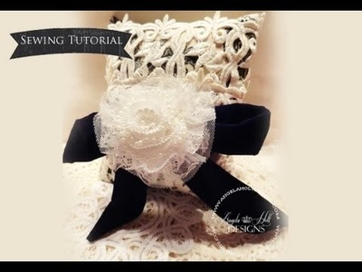 Handmade Pillow Sewing Tutorial. Tresors De Luxe DT Project