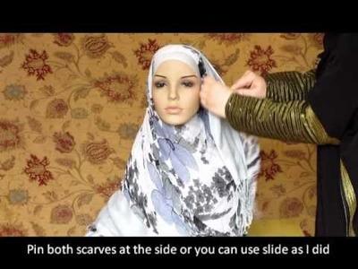 Hijab Tutorial, How to wear hijab, Double Hijab Style