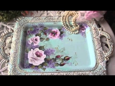 Home decor- beautiful, shabby elegant roses (New items!)