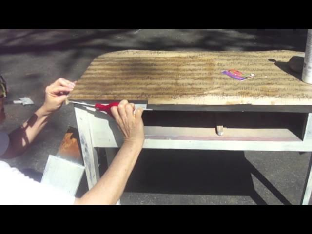 How to decoupage furniture a Table
