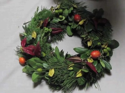 How to Make a Christmas Wreath from a Wire Hanger