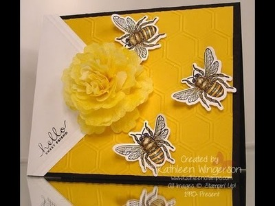 How to make a flower with Stampin' Up! Creped Filter Paper  --  08-07-2013