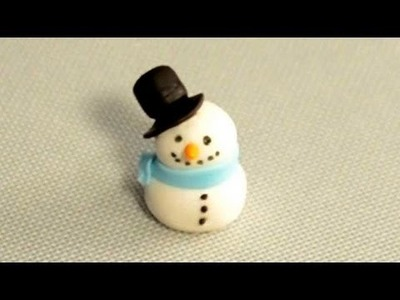 How to Make a Fondant Snowman for Christmas Cake Decorating by Cookies Cupcakes and Cardio