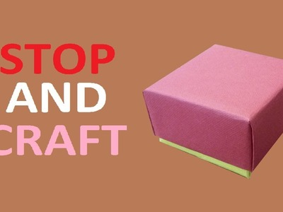 How to make a Gift Box from Cardboard or Paper