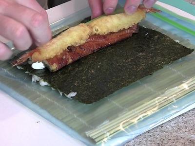 How To Make A Green Dragon Shrimp Tempura Sushi Roll