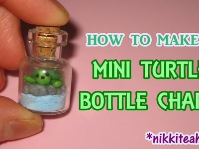 How to Make a Mini Turtle Bottle Charm (Polymer Clay)