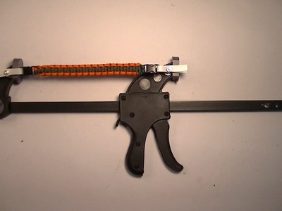 How to make a Paracord Jig Using 12 in. Ratchet Bar Clamp.Spreader