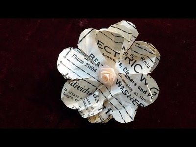 How To Make a Quick and Easy Paper Flower