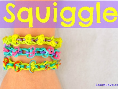 How to Make a Rainbow Loom Squiggle Bracelet - EASY