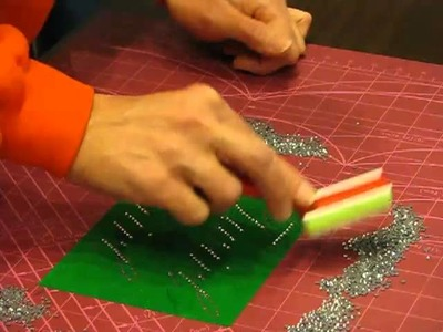 How to make a rhinestone stencil with 2 stone sizes from 1 piece of sticky flock