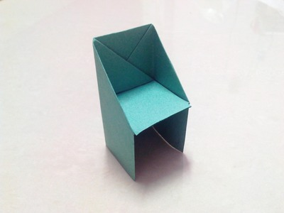 How to make an origami chair step by step.