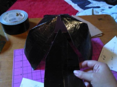How to make flat bill duct tape hat