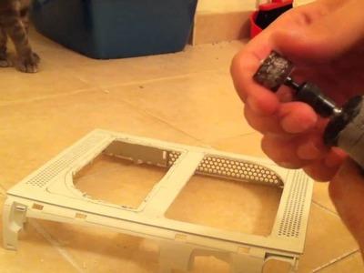 How to Mod Xbox 360 Case (cut xbox 360 & add plexiglass)