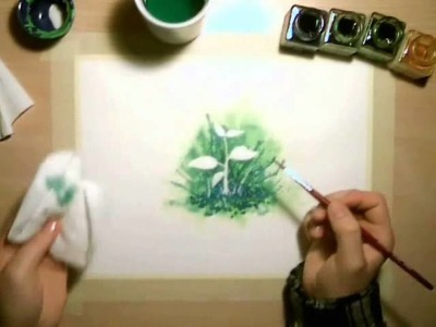 How to use MASKING FLUID in watercolor paintings