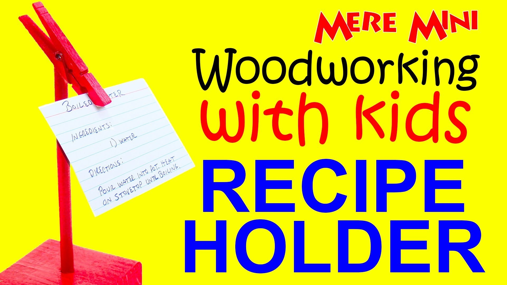 Kids' woodworking project. Make a recipe holder. Great gift idea! | Mere Mini