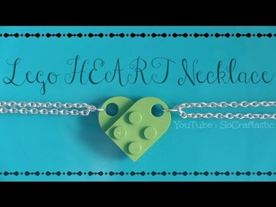 Lego Heart Necklace - How To - BFF. Friendship Jewelry