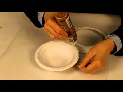 Make a bird nest with paper plates