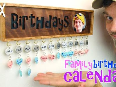 Make a family birthday calendar. Fun gift idea!