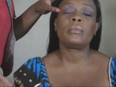 Makeup tutorial w. my Mama: Purple smoky eyes with Blue & purple liner