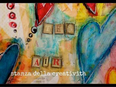 Mixed media art San Valentino