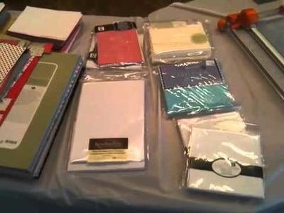 My Stampin Up Workshop Setup