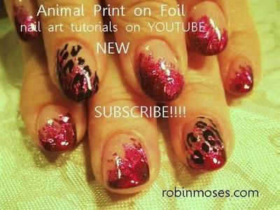 Nail Art Tutorial   Easy Pink Leopard Print Nails   Foil Nail Design