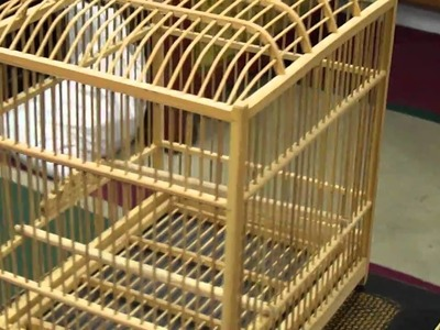 Oriental Chinese Bamboo Hand-made Birdcage s2150m