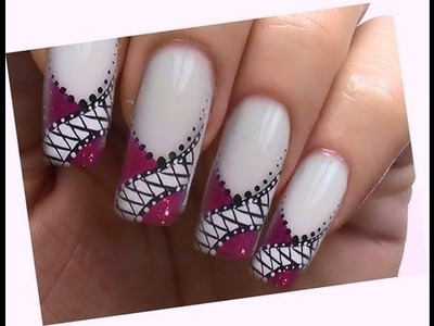Pink Fashion Style - NailArt Design Tutorial