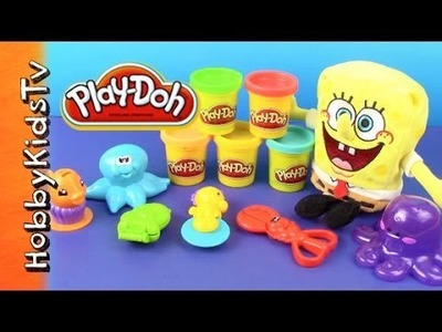 PLAY DOH UnderSea Creatures Set - Spongebob, Lightning McQueen Make Ocean Animals