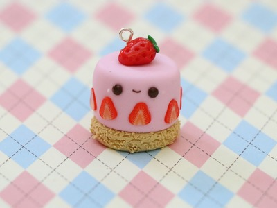 Polymer Clay Strawberry Cake Charm Tutorial